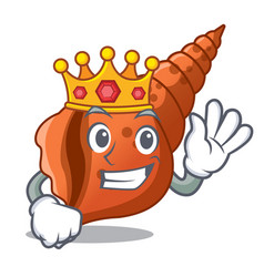 King long shell mascot cartoon vector