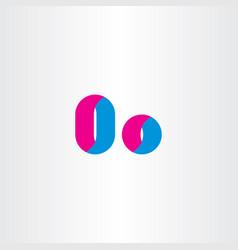 letter o symbol logotype design elements vector image vector image