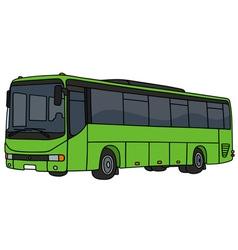 Light green bus vector