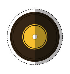 long play retro music icon vector image