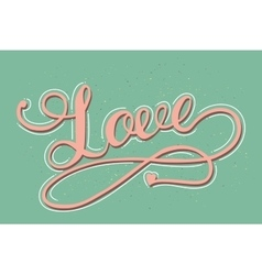 Love card with hand drawn lettering vector image