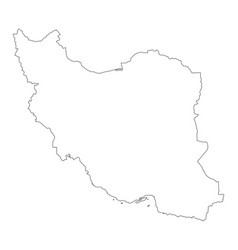 map outline iran vector image