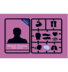 Medical infographics presentation set human body vector