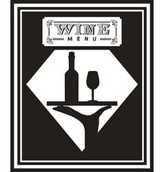 Menu wine design vector