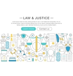modern line flat design Law and justice vector image