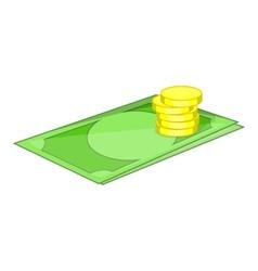 Money icon cartoon style vector
