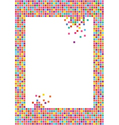 mosaic frame vector image
