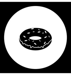 one simple isolated donut delicious and sweet vector image vector image