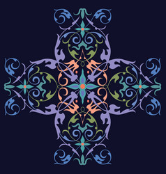 oriental ornament design vector image