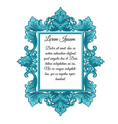 ornate vintage frame with space for your text vector image