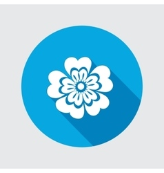 Primula flower icons Spring flowers Floral vector