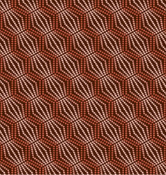 seamless pattern geometric with circles vector image