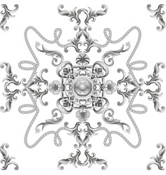 seamless pattern with baroque elements vector image