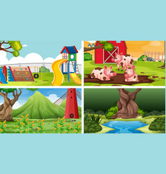 set different background vector image