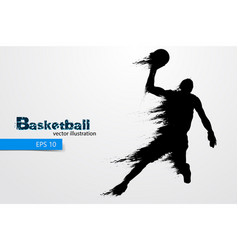 Silhouette of a basketball player vector