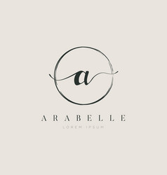 simple elegant initial letter type a logo sign vector image