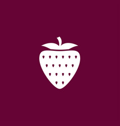 Strawberry icon simple fruit vector