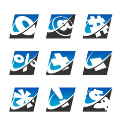 Swoosh Sport Symbol Logo Icons vector