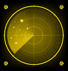 technology digital future abstract radar screen vector image