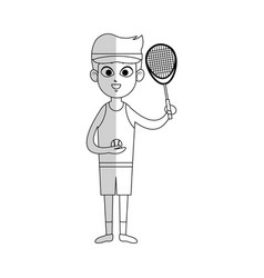 Tennis player cartoon icon image vector