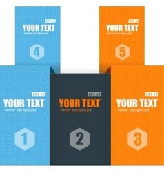 text boxes infographics options banner vector image