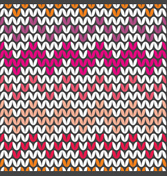 tile colorful zig zag knitting pattern vector image