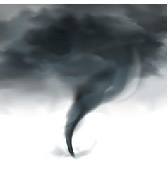 Tornado sky realistic black white vector