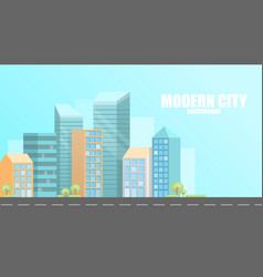 urban modern city background vector image