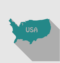 usa map in flat style with shadow vector image