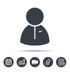 User icon human person sign vector