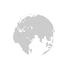 white dotted globe glass transparent vector image