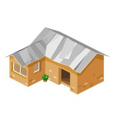 poor house vector image