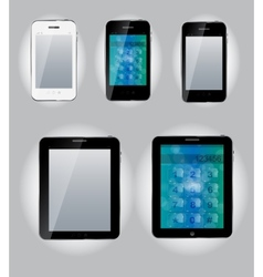 Tablet computer and mobile phone icons vector image vector image
