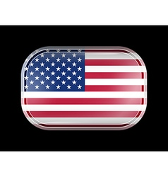 United States of America Flag with Rounded Corners vector image