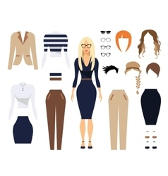 Woman in office clothes stylish uniform design vector image vector image