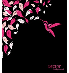 Abstract pink leaf and hummingbirds background vector image vector image
