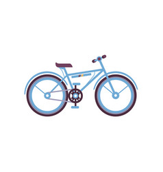 blue bike modern bicycle vector image vector image