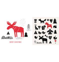 christmas in scandinavian style vector image vector image