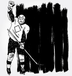 hockey player3 vector image vector image