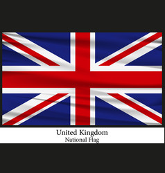 national flag of united kingdom vector image vector image