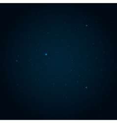 Night starry sky background vector image