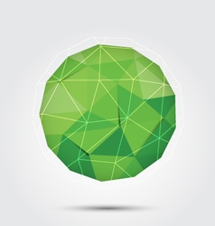 polygon circle background green vector image vector image