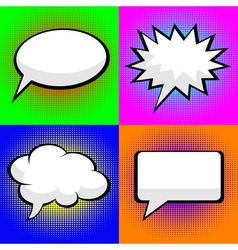pop art comic speech bubbles vector image