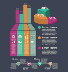 stylish modern infographics for the design of vector image vector image