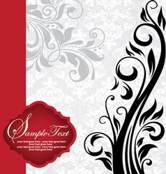 vintage invitation card with floral background and vector image vector image