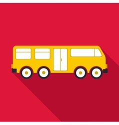 Big bus icon flat style vector image