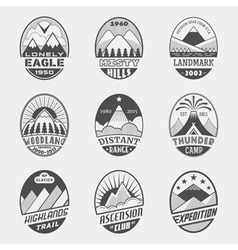 Mountain badge set2 vector image vector image