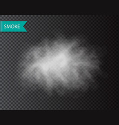 smoke or cloud isolated transparent template vector image