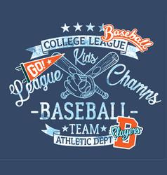 baseball kids team league champs vector image vector image