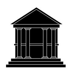 Classical building with columns university bank vector